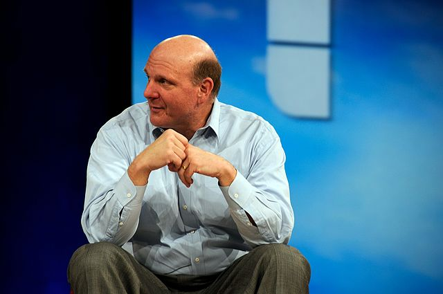 Steve Ballmer at MIX in 2008.  originally posted to Flickr as Le Ballmer by Jesús Gorriti